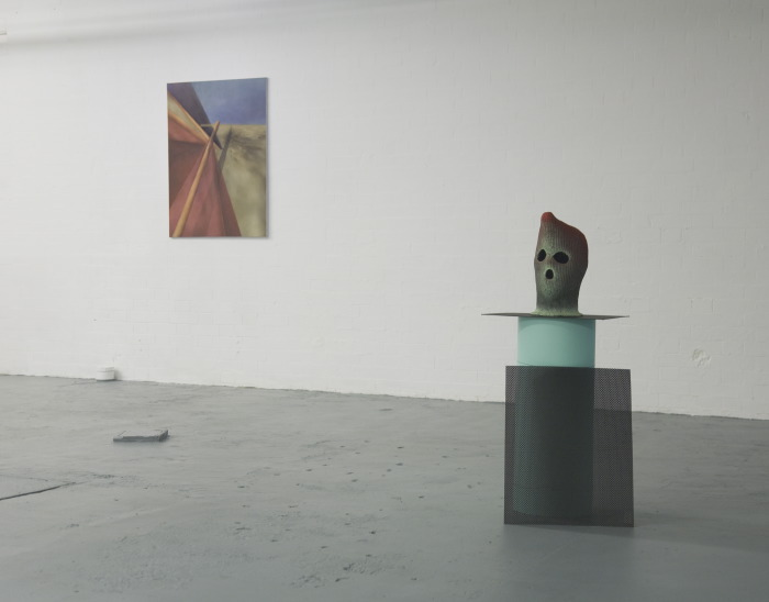 Anna Ostoya, A Sense of Perspective and Other Attempts, 2008<br /> Patrick Tuttofuoco, Aaron, 2009<br /> Installation view: Cornered Rooms, 2 September - 17 October 2010, London