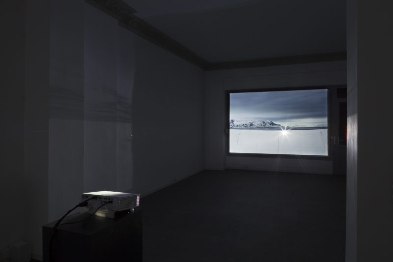 Emilija Škarnulytė<br /> No Place Rising, 2017<br /> 12 min, HD video<br /> Installation view from MANIFOLD, solo exhibition at Decad, Berlin <br /> Courtesy the artist and Decad<br /> Photography by Julija Goyd © 2017